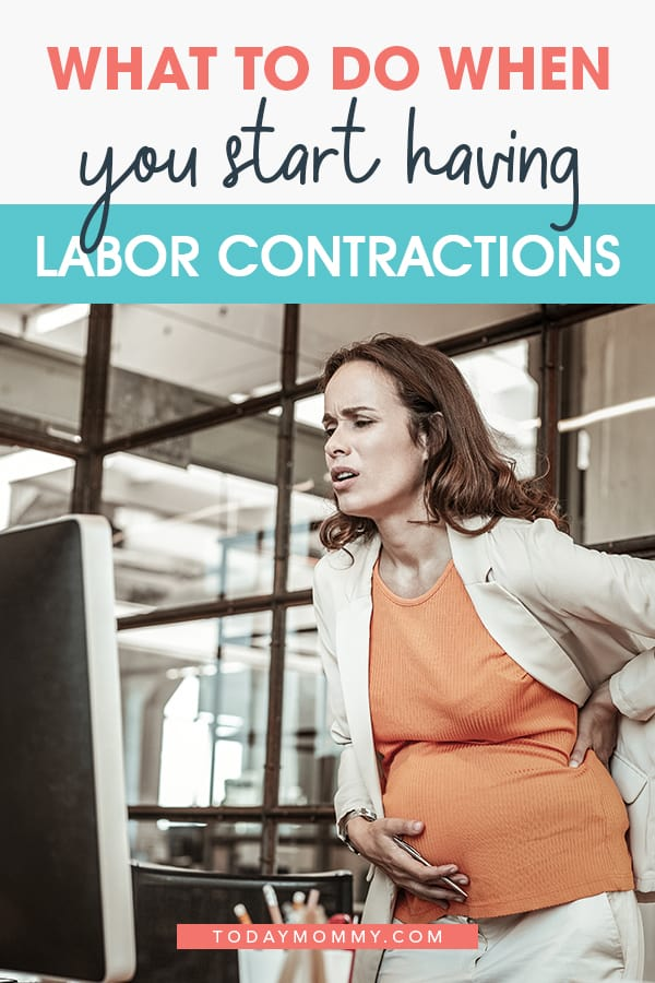 what to do when labor contractions start